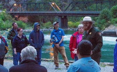 Skagit Tours Dam Good Chicken Dinner and Ladder Creek Falls by Night